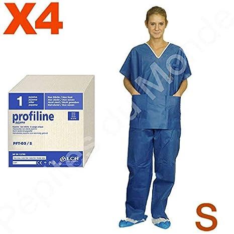 Pijama quirófano 2 bolsillos desechable talla S manga corta - Juego 4 pijamas pantalón alto pdm-pft03 - 4 by Pépites del mundo: Amazon.es: Salud y cuidado ...