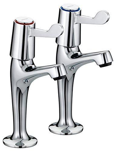 (Bristan Val Hnk C Cd Lever High Neck Pillar Chrome Plated Taps With Ceramic Disc Valves)