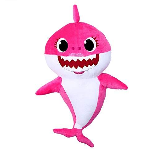 (Baby Shark Official Singing Plush, Music Sound Baby Shark Plush Doll Soft Baby Cartoon Shark Stuffed & Plush Toys Singing English Song for Kids Gift Children Girl)