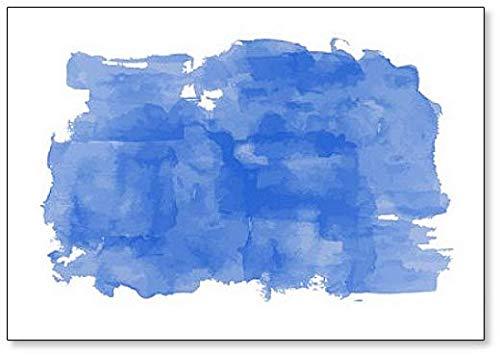 Imán para nevera con ilustración de pintura de acuarela azul ...