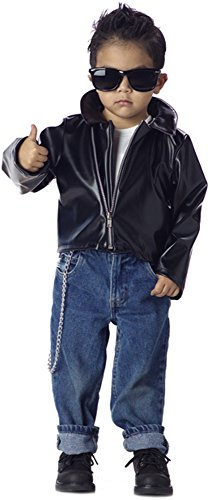 [Toddler Greaser 50s Boy Costume X-Small 4-6] (Greaser Outfit)