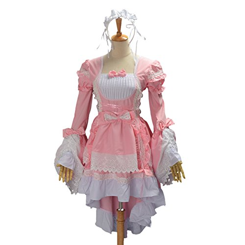 BLZ 1pc Lolita Maid Dress (Cute Halloween Dress)