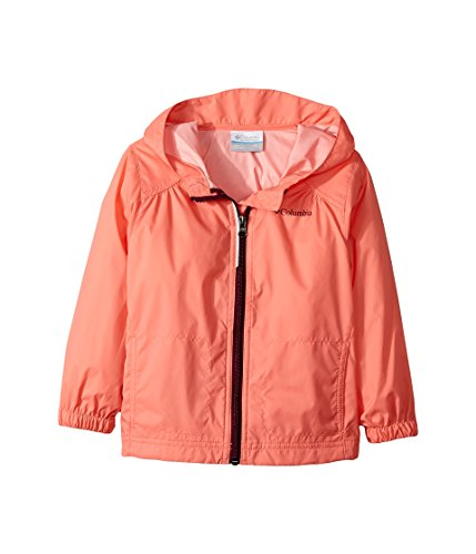 Columbia Toddler Girls' Switchback Rain Jacket, Hot Coral, 4T