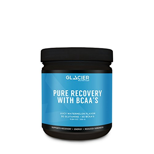 Glacier Nutrition Pure Recovery BCAA Powder – 330 g – No Gluten, Preservatives, or Artificial Ingredients For Sale