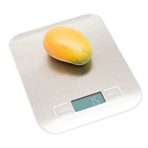 Food Weight Scale, Digital Kitchen Cooking Baking Scale, 11 lb 5 kg, Weigh Snacks, Liquids, Stainless Steel Kitchen scale, Best Gift for Diet, Weight Loss Programs