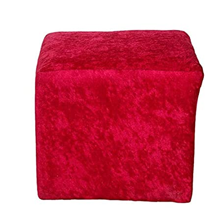Puffy Sitting Stool Red Designer Pouffe Cushioned Stool for Living Room/Office/Kitchen/Puffy Stool (Red - Color) by Sajid Puffs XL