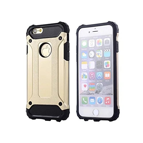 "IPhone 6 Coque,IPhone 6S 4.7 ""Coque,Lantier Refroidir série 2 en 1 Cover Coque Combo Hybrid Defender High Impact Body Armor pour Apple Iphone 6/6S 4.7"" Gold"