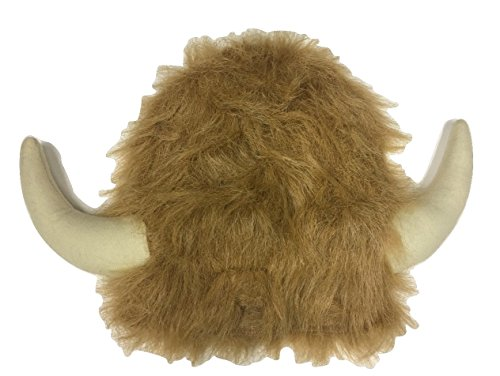 Adult Furry Moose Water Buffalo Bull Steer Horns Lodge Hat Costume Accessory