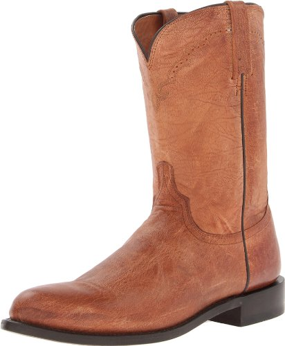 - Lucchese Classics Men's Shane-tan Mad Dog Goat Roper Riding Boot, Burnish, 10.5 D US
