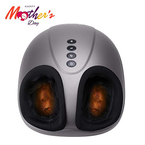 Shiatsu Foot Massager Electric Heat Kneading -Foot Massage Machine with Rolling and Air Compression for Home and Office for Men and - Machine Foot Rolling Long