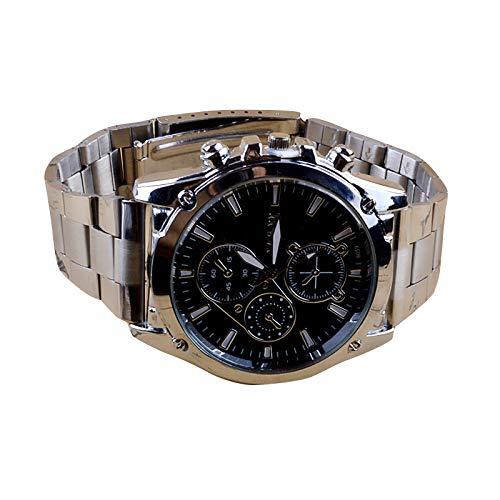 JiaMeng Auténtico Suizo Reloj Analógico De Acero Inoxidable del Deporte de la maquinaria de Banda Pare Hombres (Negro): Amazon.es: Ropa y accesorios