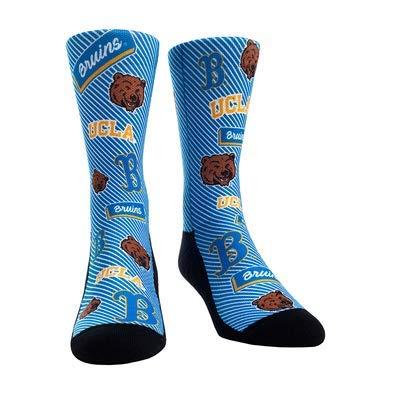(NCAA Super Premium College Fan Socks (L/XL, UCLA Bruins - Logo Statement))
