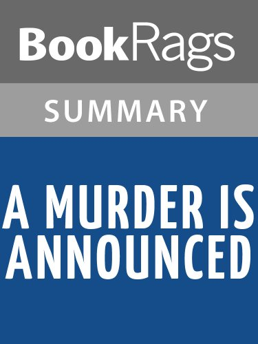 Summary & Study Guide A Murder Is Announced by Agatha Christie