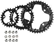 FMFXTR 【US Stock 3X10s 104/64bcd 24/32/42t Triple Speed MTB Aluminum Alloy Square Crankset, Mountain Bike 170m