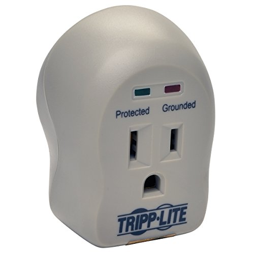 Tripp Lite 1 Outlet Portable Surge Protector Power Strip, Direct Plug in, 5,000 Insurance (SPIKECUBE)