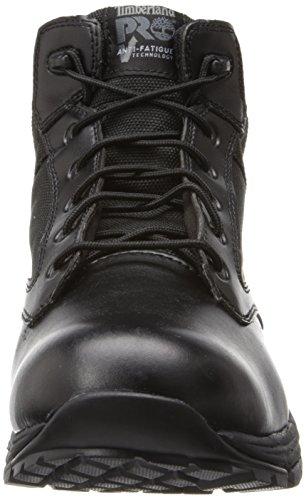 Timberland Pro Mens 5 Inch Valor Zachte-teen Werkschoen Zwart Glad Met Textiel