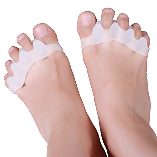 Toe Separators Gel Toes Stretchers Bunions Corrector Relief for Hammertoe Overlapping Toes Hammer Big Toe Straightener Claw Toes Alignment Toe Spacers Bunion Pad Toe Pads for Men and Women Wingswind