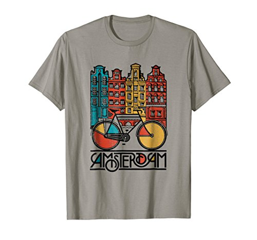 New Retro Bicycle Bike Amsterdam City T Shirt Jersey