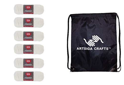 rn (6-Pack) Off White E267-0003 Bundle with 1 Artsiga Crafts Project Bag ()