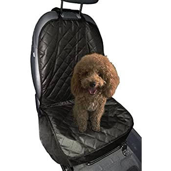iCOVER Pet Car Bucket Seat Front Seat Cover for Cars, Trucks and SUVs, Mini Van, Quilted, Waterproof,Washable, Nonslip backing, Black Color, PSC21504