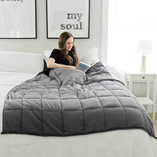 Cheap GRACED SOFT LUXURIES Weighted Blanket Heavy Blanket Weighted Blanket Adult | 100% Cotton with Premium Glass Beads (48