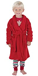Red Microfleece Marshmallow Robe for Toddlers
