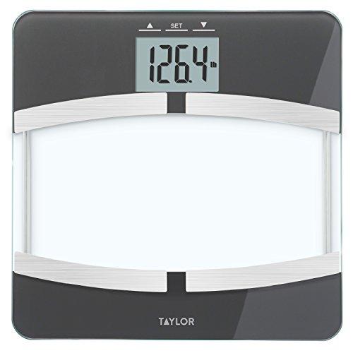 Taylor 400 Lb. Capacity Digital Glass Platform Body Composition Analyzer Bath Scale, Black