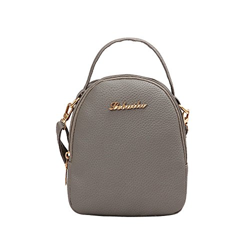 Shoulder Bag,Robemon Handbag Crossbody Messenger Satchel Fashion Casual Women Style Rucksacks Shopping Bag Soft Gray
