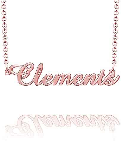 LoEnMe Jewelry Customized Cardenas Name Necklace Stainless Steel Plated Custom Made of Last Name Gift for Family