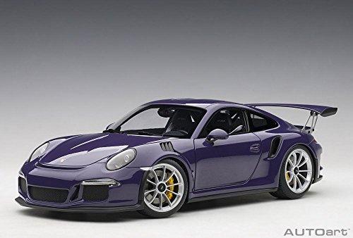 AUTOart Porsche 911 (997) GT3 RS, Ultra Violet Purple 78169 - 1/18 Scale Diecast Model Toy Car