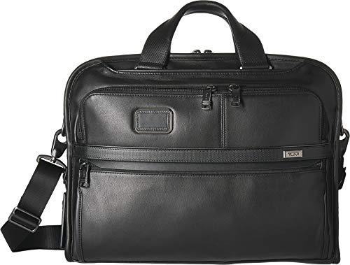 Tumi Unisex Alpha 3 Organizer Portfolio Brief Black 1 One Size