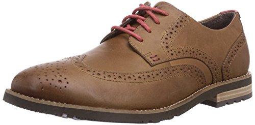 Rockport LH2 WING OXFORD - Zapato brogue de cuero hombre marrón - Braun (NEW CARAMEL)