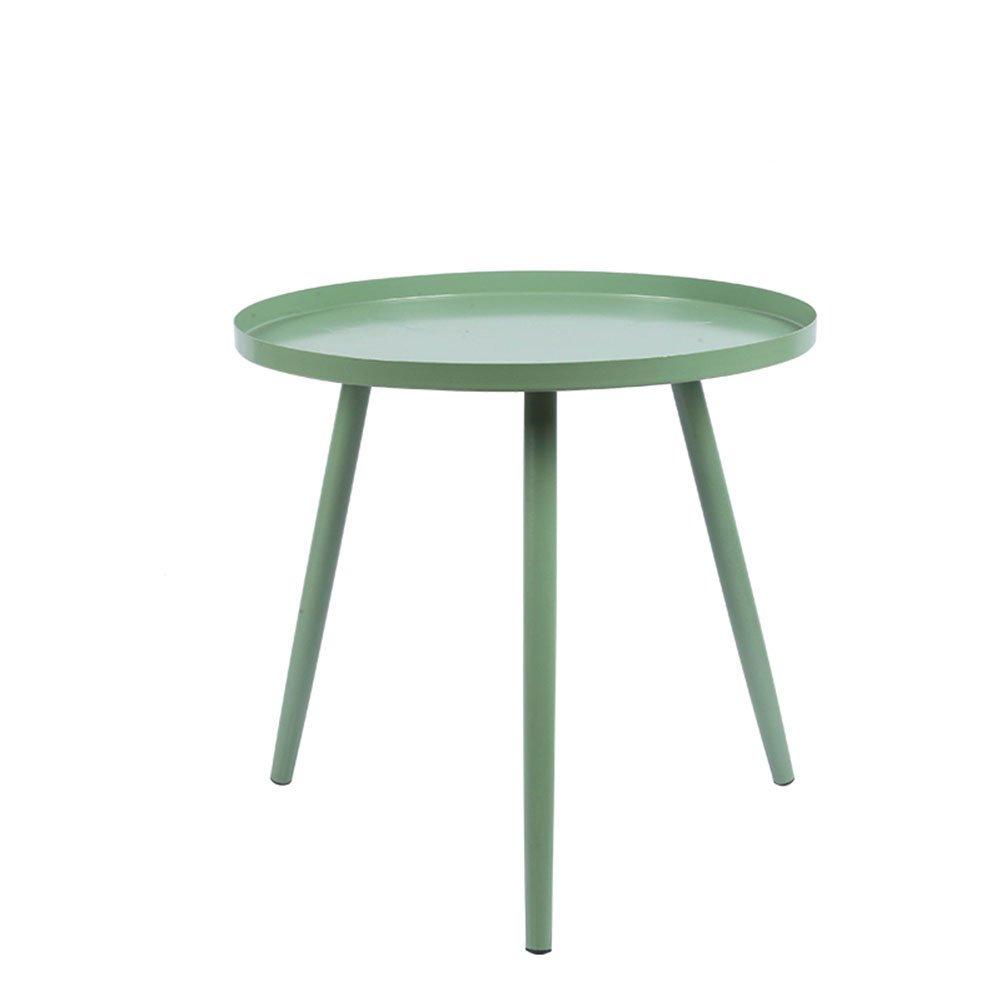 CSQ テーブル、折りたたみテーブル、コーヒーテーブル、サイドテーブル、ソファサイドテーブルベッドサイドテーブルライティングデスクドレッシングテーブルダイニングテーブルアイロン材料サイドテーブル36-46CM コー\u200b\u200bヒーテーブル (色 : 緑, サイズ さいず : B) B07DNN5464 B|緑 緑 B