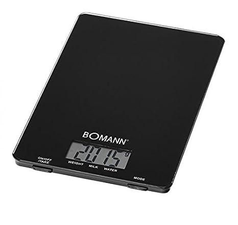 Bomann KW 1515 CB - Báscula de cocina (LCD, Negro, CR 2032, Vidrio), color negro: Bomann: Amazon.es: Hogar