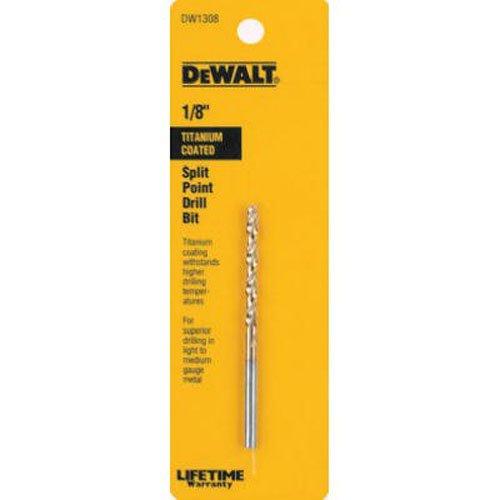 DEWALT DW1308-1/8-Inch Titanium Split Point Twist Drill Bit