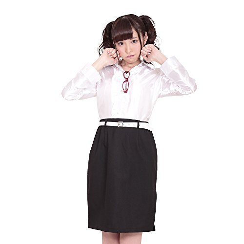 Slit tight skirt depth [A & Tcollection] My Teacher / SEXY Teacher cosplay white blouse One Size ()