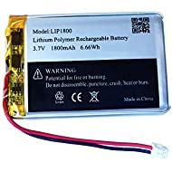 3.7v 1800mAh Battery w/Small Plug for Sony DualShock 4 Cuh-zct2u Cuh-zct2e PS4 Pro Wireless Controller Replacement LIP1522 Battery Pack - (Cuh-zct2u Battery_1 Pack)