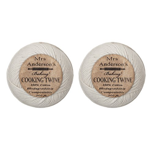 Mrs. Anderson's Baking Cooking Twine, Made in America, All-Natural Cotton, 200-Feet, Set of 2