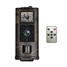Trail Game Camera, Toguard Hunting Camera 1080P 30fps 12MP 120° Wide Angle IP56 Waterproof Wildlife Camera with Infrared Night Vision, Motion Detector, 0.5s Trigger Speed