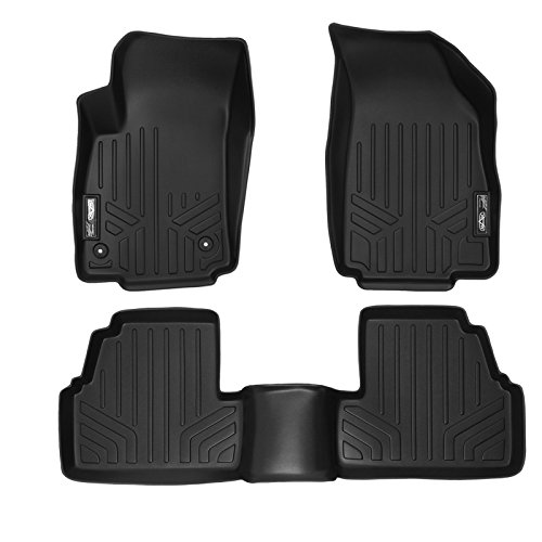 SMARTLINER Floor Mats 2 Row Liner Set Black for 2013-2018 Buick Encore / 2014-2018 Chevrolet Trax