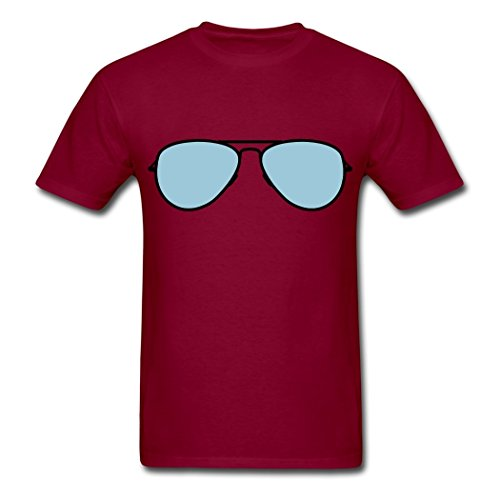 EivonTS Custom Design Men's Sunglasses design T-Shirts burgundy ()
