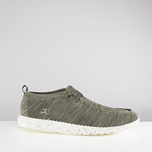 Dude Shoes Hey Men's Wally Knit Sage Green MsybQ5I1Qe