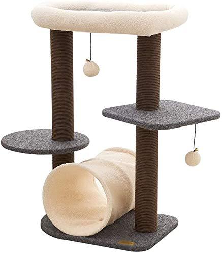 FTFDTMY Tunnel Cat Climbing Frame, Cat Scratch Board Kratzbaum Einteiliger Pet Theme Store Schleifklaue Spielzeug…