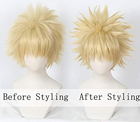 Blonde Linfairy Anime Cosplay Wig Short Blonde Hair Halloween Costume Full Wig Amazon Ae