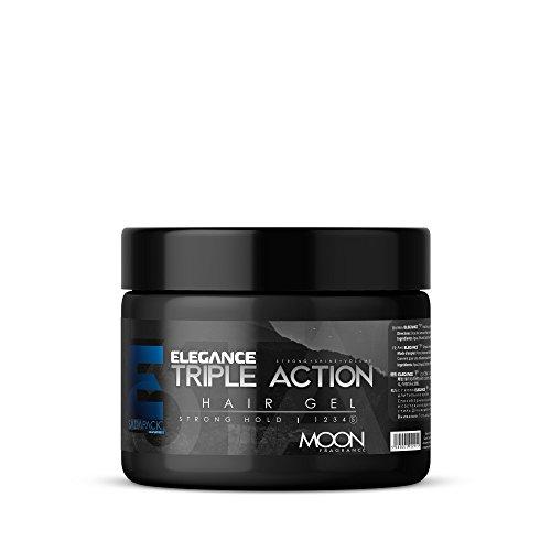 ELEGANCE GEL Triple Action Hair Gel, Moon, 8.8 Oz - Gel Triple Pack