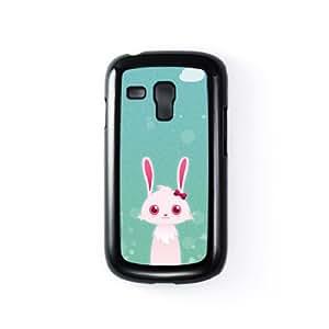 Rabbit Carcasa Protectora Snap-On en Plastico Negro para Samsung® Galaxy S3 Mini de DevilleArt + Se incluye un protector de pantalla transparente GRATIS