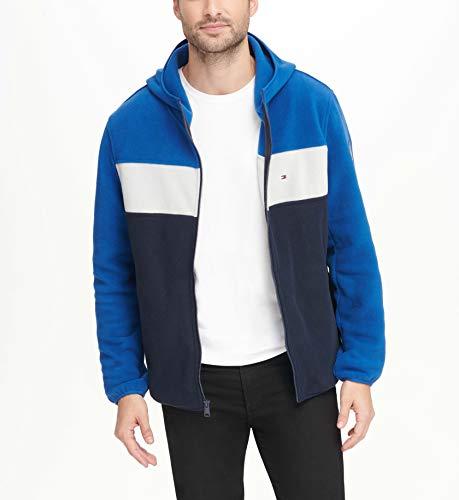 - Tommy Hilfiger Men's Hooded Performance Fleece Jacket, Royal/White/Navy, Medium