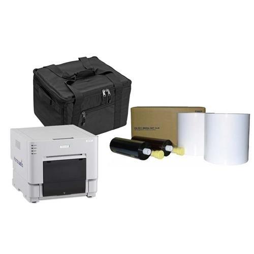 DNP RX1 Compact Pro Photo Booth + Portrait Printer BUNDLE w/carrying case + more by DNP