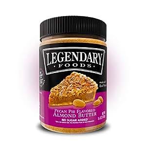 Legendary Foods Flavored Almond Butter   Keto Diet Friendly, Low Carb, No Sugar Added, Vegan   Pecan Pie (16oz Jar)