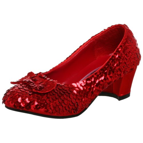Dorothys Red Shoes (Funtasma by Pleaser Little Kid/Big Kid Dorothy Dress,Red Sequin,Large (US Little Kid 2-3 M))
